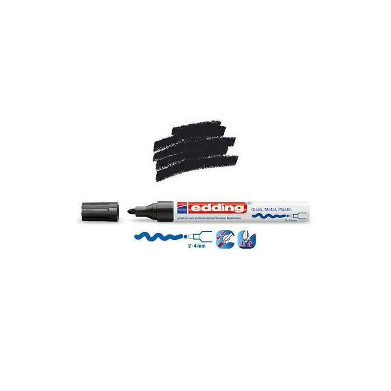 Marqueur sur verre  peinture brillante Noir pointe 24 mm ~ Peinture Noire Brillante Pour Bois