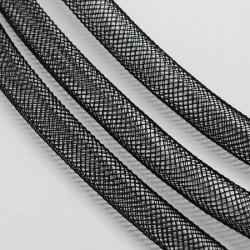 Résille tubulaire Noir, 8 mm ø - au mètre