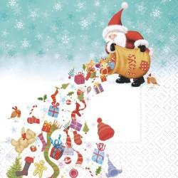 Serviettes en papier Santa's rain