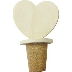 Bouchon en bois Coeur