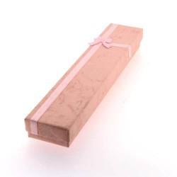 Boîte rectangulaire rose 20 x 4 cm
