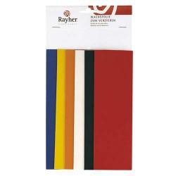 Feuille de cire, teintes de base, 6 couleurs