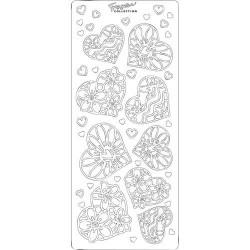 Stickers autocollants Peel off Coeurs roses