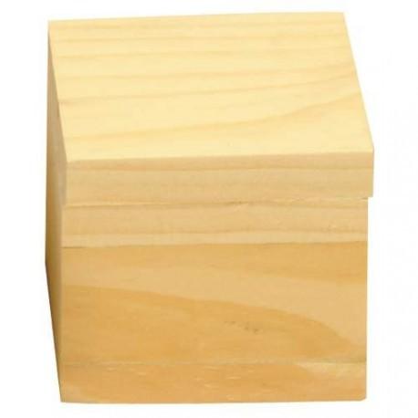 Boîte pivotante carrée 5 x 5 x 4,5 cm