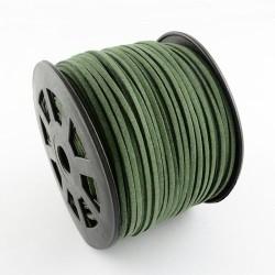 Cordon suédine Vert foncé 3 mm ø