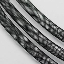 Résille tubulaire fine Noire, 4 mm ø - au mètre
