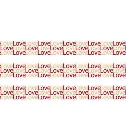 Masking Tape Love superposés - 15 mm x 10 m