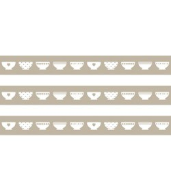 Masking Tape Bols beiges - 15 mm x 10 m