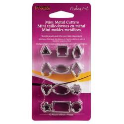 12 Mini emporte-pièces métalliques Formes de base pour fimo