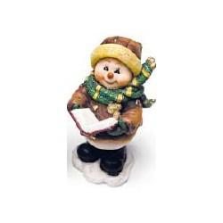 Bonhomme de neige avec livre, 10,5cm