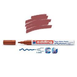 Marqueur sur verre - peinture brillante Marron pointe 1-2 mm