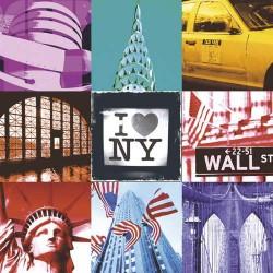 Serviettes en papier I Love New York