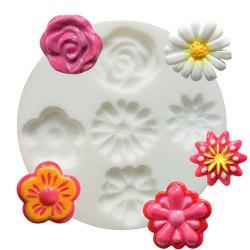 Mini moule silicone Fleurs