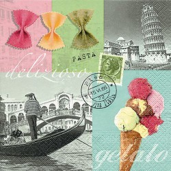 Serviettes en papier Italie