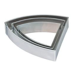 3 emporte-pièces Banderole métalliques pour pate polymère