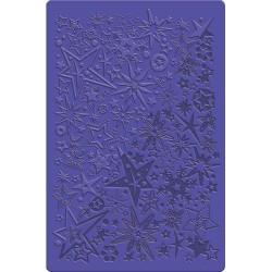 Plaque de texture Etoiles et Flocons 20 x 13 cm