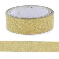 Glitter Tape Or - 15 mm x 4 m