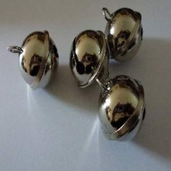 Grelots 29 mm en métal, sachet de 4 pces, platine
