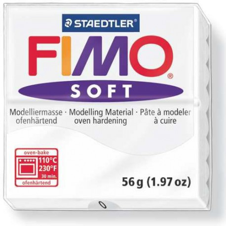 Fimo Soft Blanc 0 - 56 gr