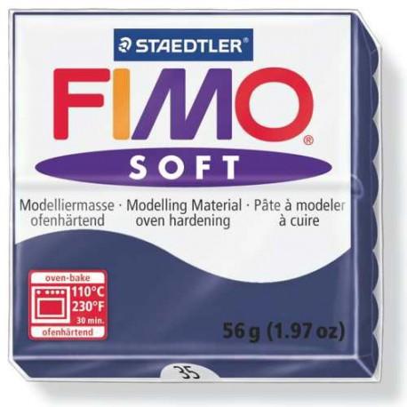 Fimo Soft Bleu Foncé 35 - 56 gr