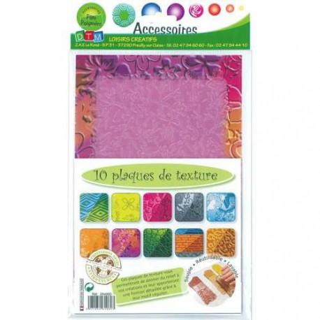 Assortiment 10 Plaques de textures 20 x 13 cm - série 2