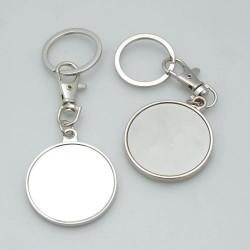 Porte clé métallique à décorer