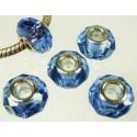 Perle à facettes Bleu style Pandora - à l'unité