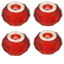 Perle à facettes Rouge clair style Pandora - à l'unité