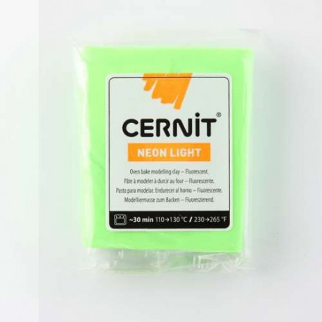 Cernit Néon Light Vert 600 - 56 gr