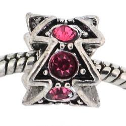 Métal Sapin strass rose style Pandora - à l'unité