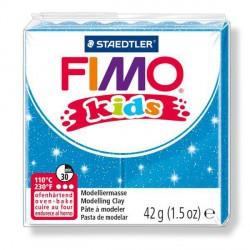 Fimo Kids Bleu pailleté 312 - 42 gr