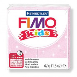 Fimo Kids Rose perlé 206 - 42 gr