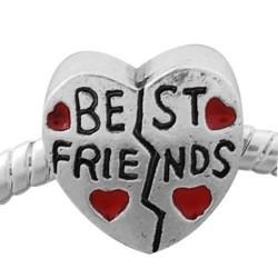 Métal coeur Best Friends style Pandora - à l'unité