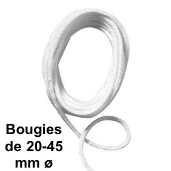 Mèche ronde, sachet 2 m, No 9 bougies 20-45 mm ø