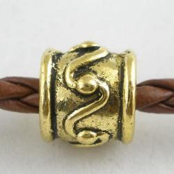 Métal perle au lacet style Pandora, dorée - à l'unité
