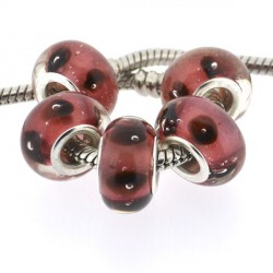 Perle de verre rouge coccinelle style Pandora - à l'unité