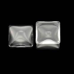 Cabochon carré 20 mm en verre
