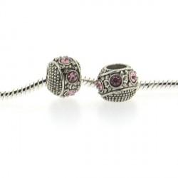 Métal Ceinture strass rose style Pandora - à l'unité