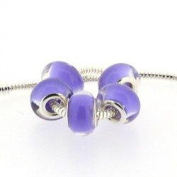 Perle en résine mauve pastel style Pandora - à l'unité