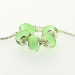 Perle en résine vert pastel style Pandora - à l'unité
