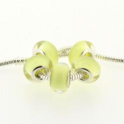 Perle en résine jaune pastel style Pandora - à l'unité