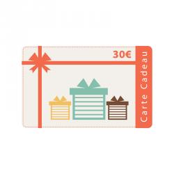 Carte cadeau 30