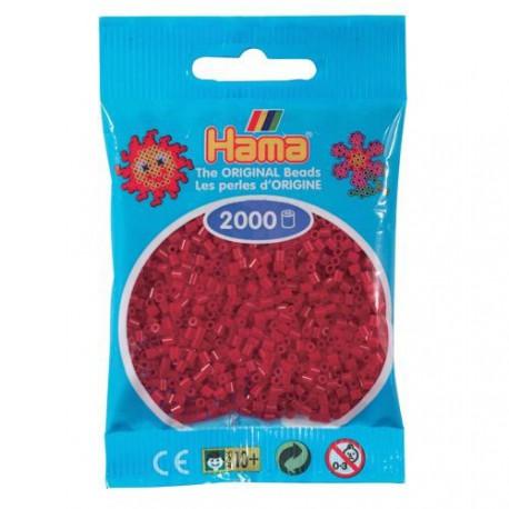 Sachet 2000 Perles Hama Mini - Rouge Noël