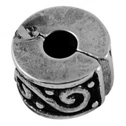 Métal perle bracelet pince arabesques style Pandora - à l'unité