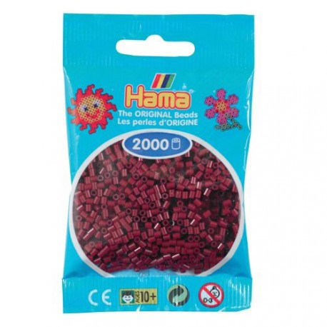 Sachet 2000 Perles Hama Mini - Rouge Bordeaux