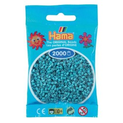 Sachet 2000 Perles Hama Mini - Bleu turquoise