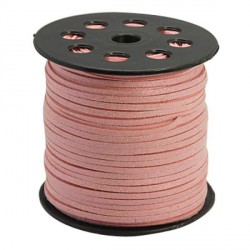 Cordon suédine Rose brillant 3 mm ø