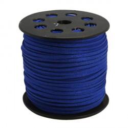 Cordon suédine Bleu foncé brillant 3 mm ø