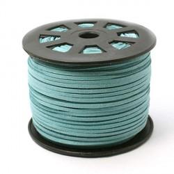 Cordon suédine Bleu Turquoise 3 mm ø