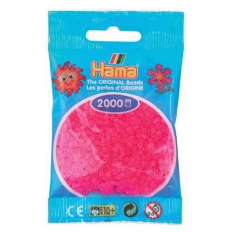 Sachet 2000 Perles Hama Mini - Rose fuchsia